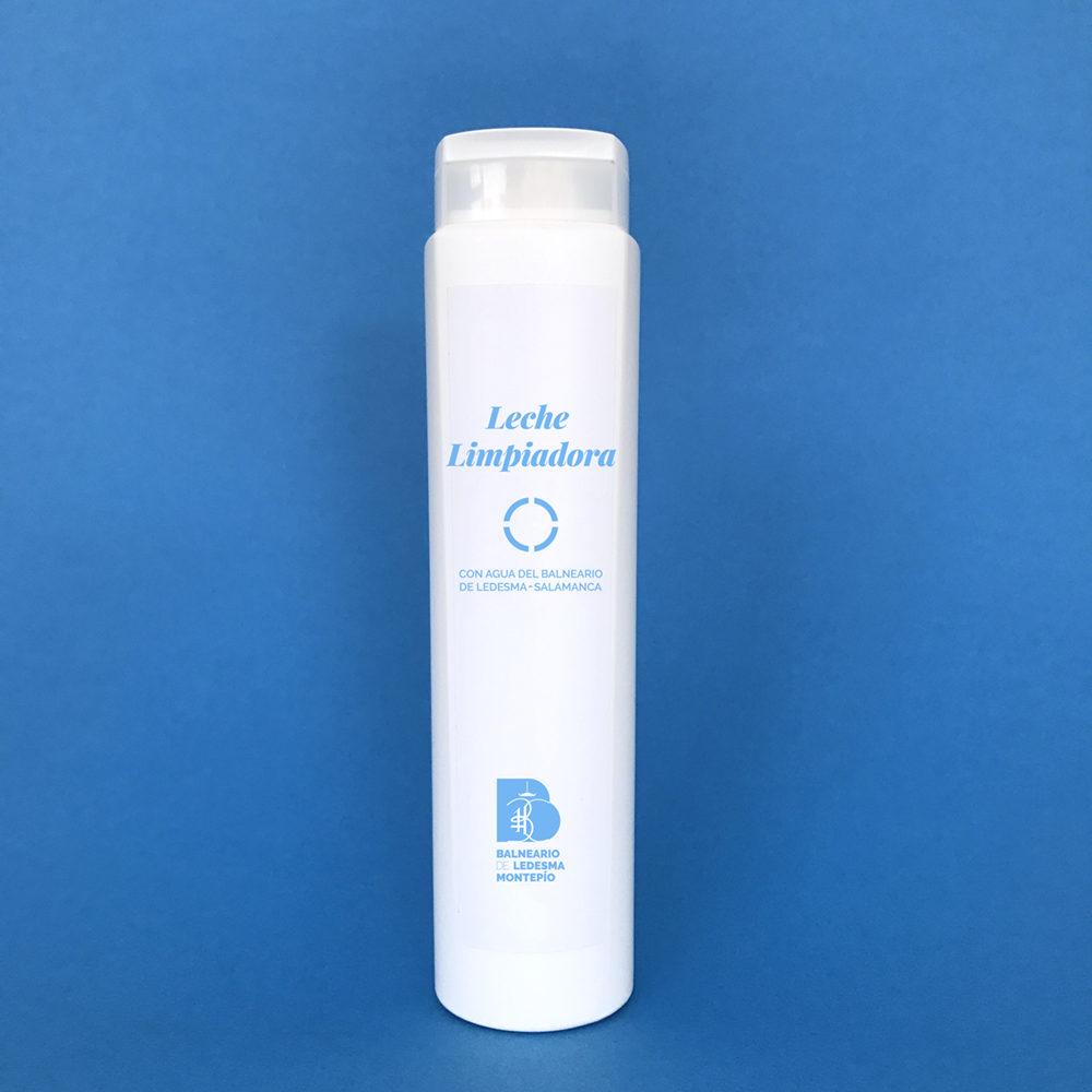 Leche limpiadora con agua del Balneario de Ledesma