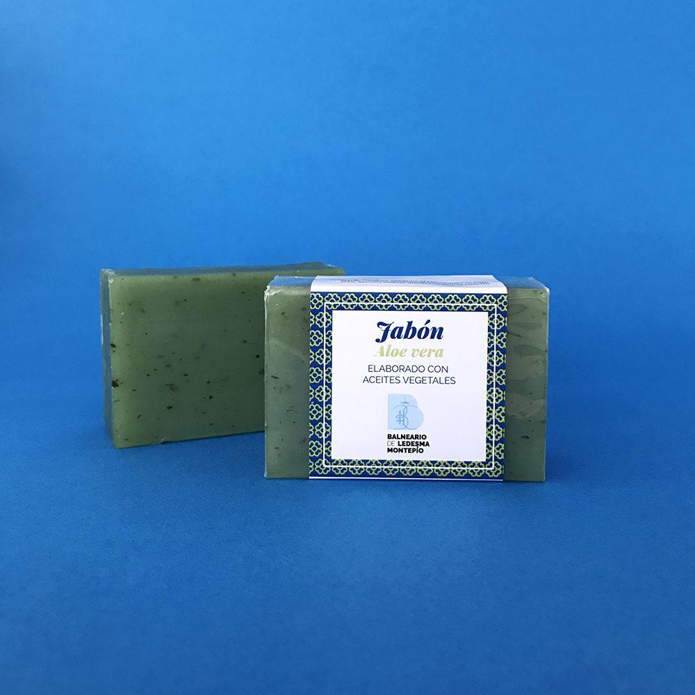 Jabón aloe vera elaborado con aceites vegetales