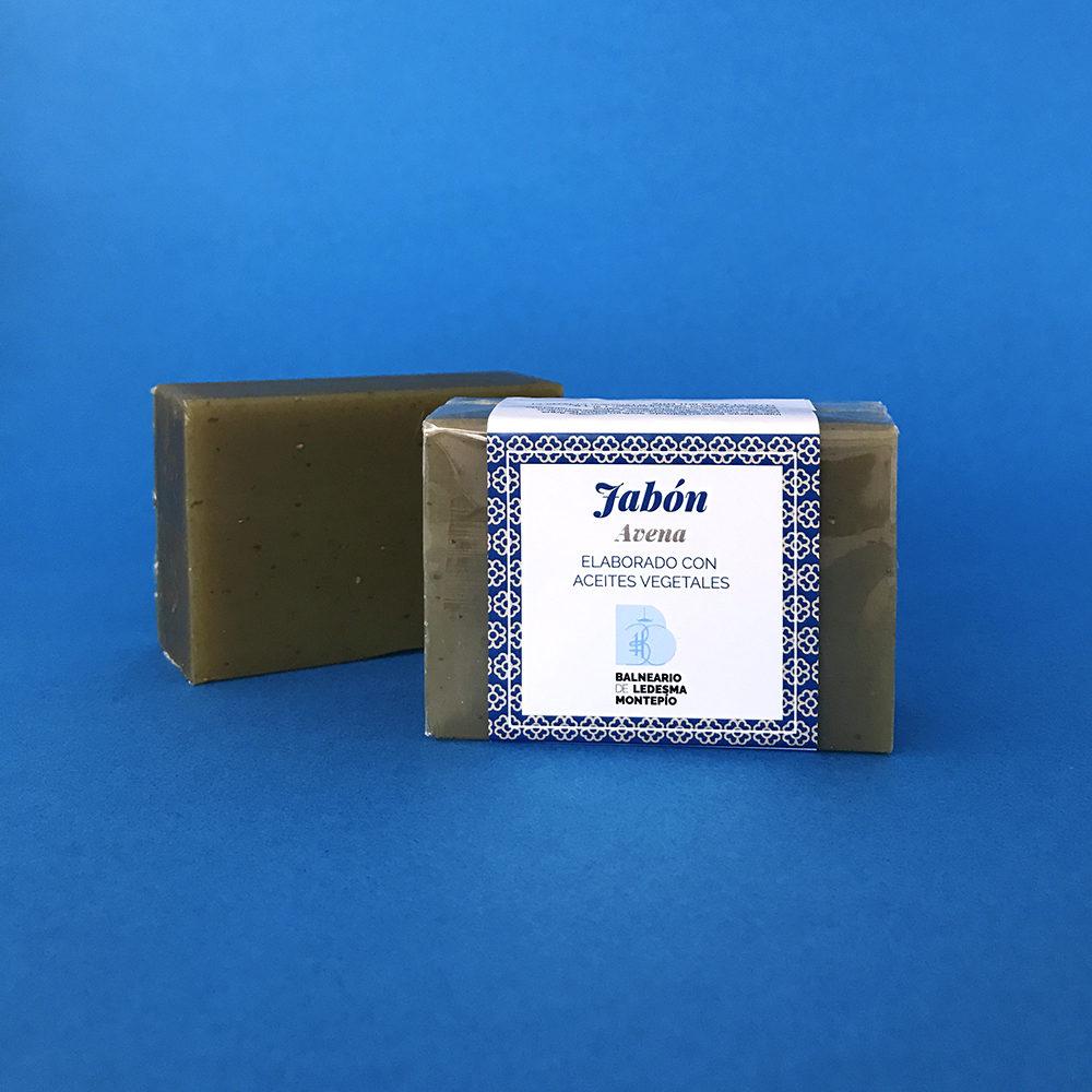 Jabón avena elaborado con aceites vegetales